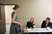 Ruta Sepetys, New York Times Bestselling Author speaks to English students at Belmont University in Nashville, Tenn. September 26, 2017.